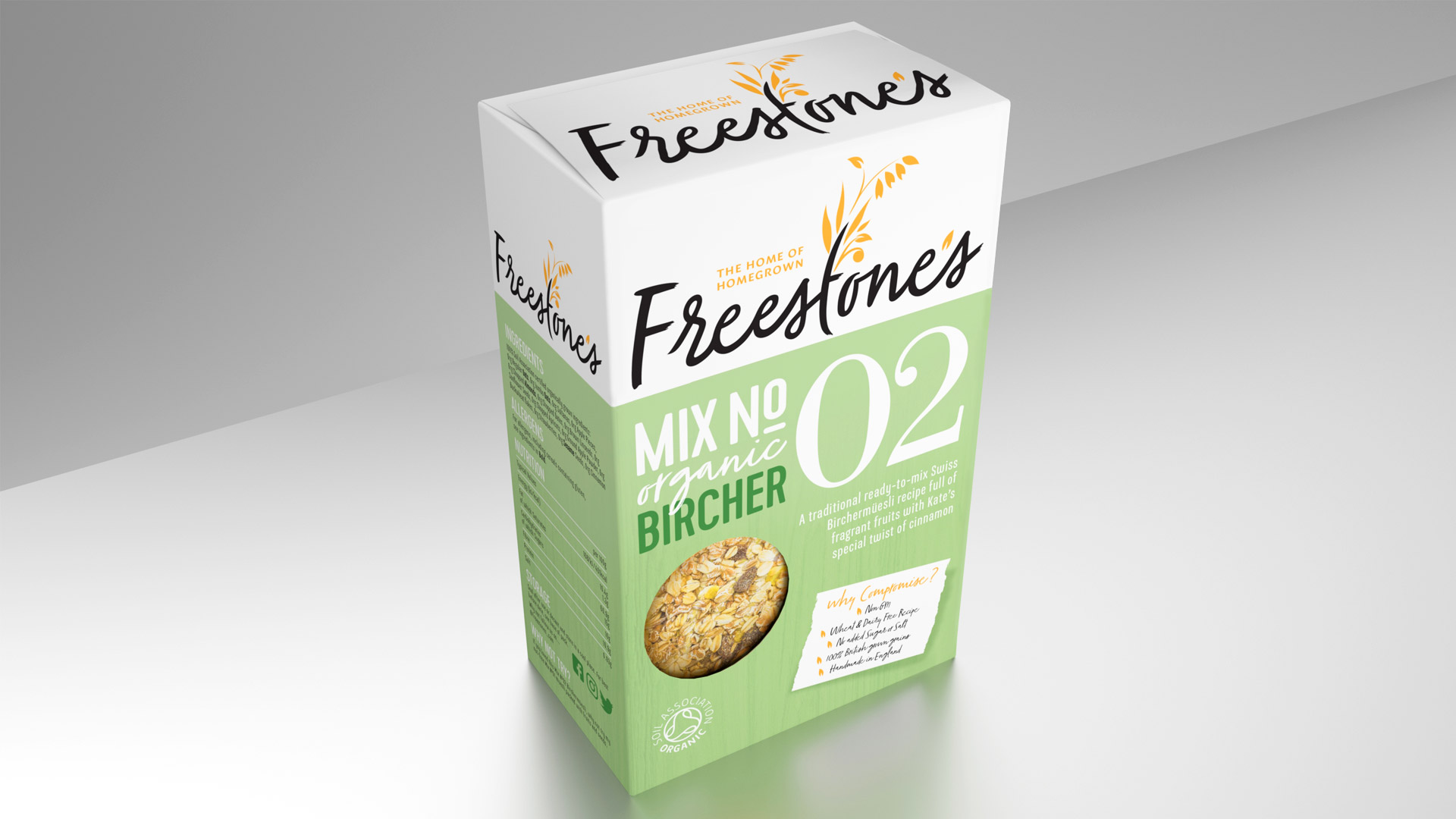 Freestones Mix No 2 Bircher Muesli - The home of homegrown